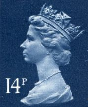 14p Discount GB Postage Stamp